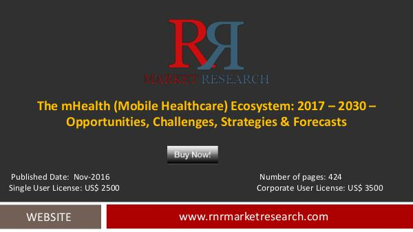 mHealth Market In-depth analysis Forecasts to 2030 Nov-2016