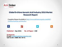 Global 0-chloro-benzoic Acid Market by Supply, Demand and Industry
