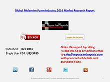 Global Melamine Foam Market Analysis & Forecasts 2021
