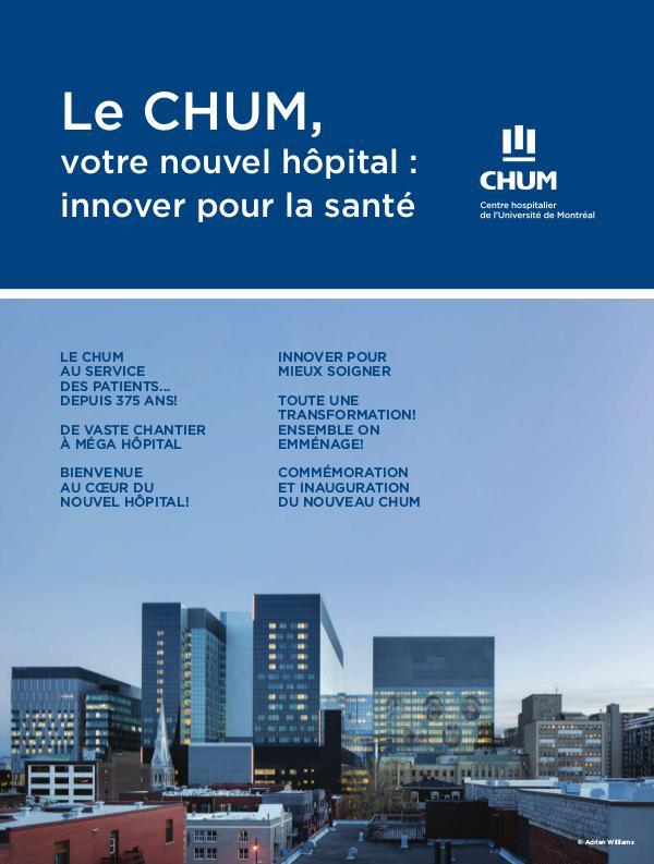 Le CHUM : votre nouvel hôpital innover pour la santé CHUM web