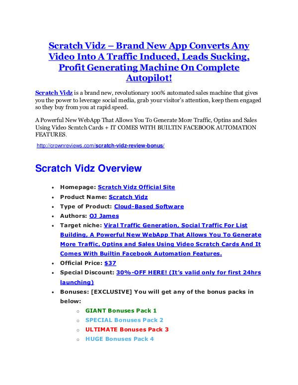 marketing Scratch Vidz reviews and bonuses Scratch Vidz
