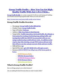 marketing Group Traffic Profits Review – (Truth) of Group Traffic Profits and Bonus