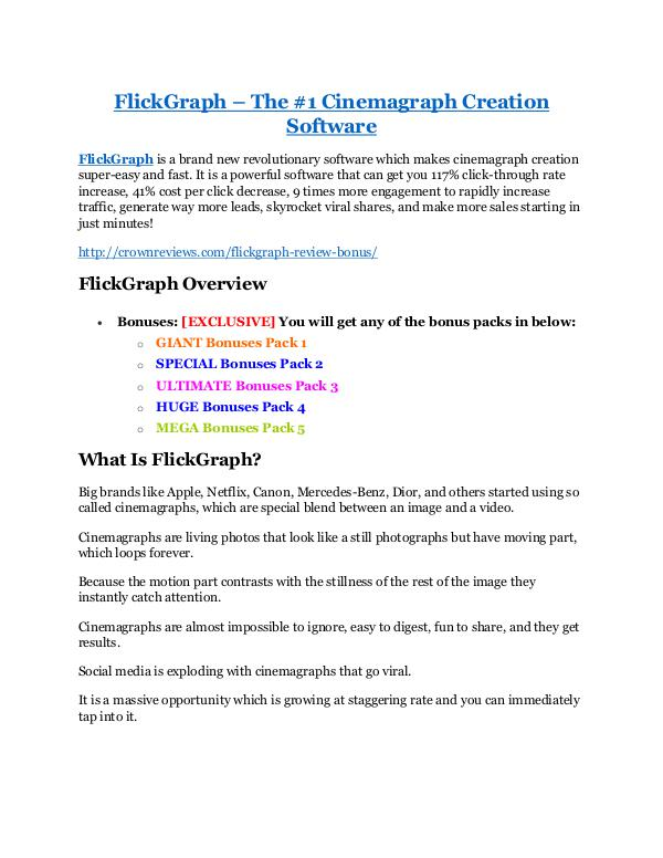 FlickGraph review - (FREE) Jaw-drop bonuses