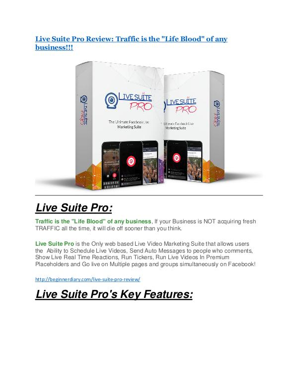 Live Suite Pro Review & GIANT Bonus