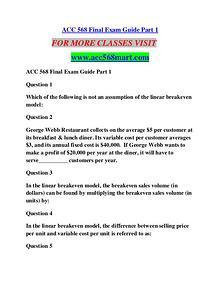 ACC 568 MART Education  Terms/acc568mart.com
