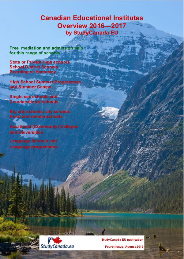 Canadian Educational Institutes Overview 2016-2017 Edition 4.0