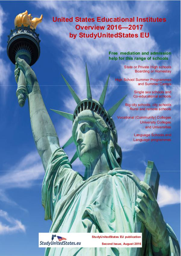 USA Educational Institute Overview 2014-15 Edition 1.1 August 2016