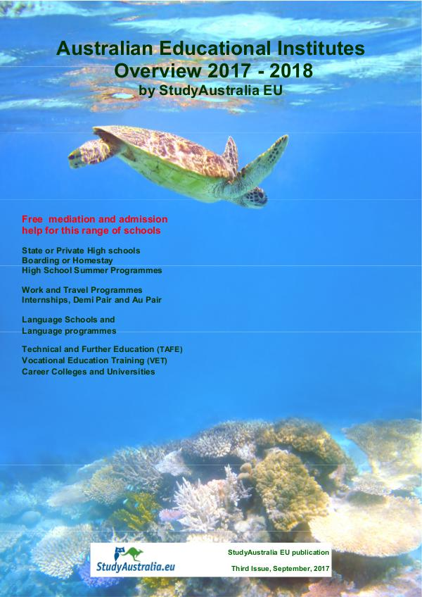 Australian Educational Institute Overview 2014 Issue 4.0 September 2017