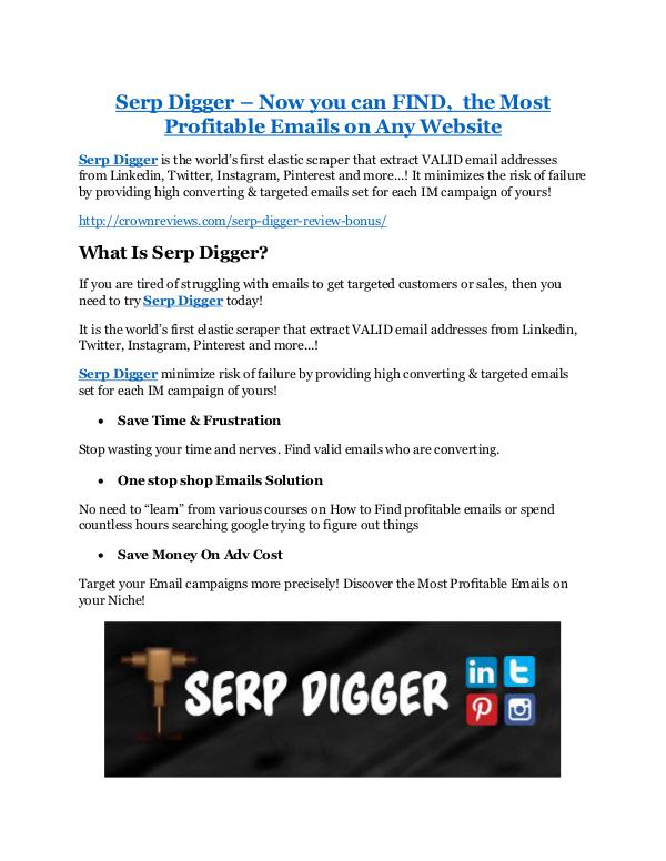 Serp Digger Review & (Secret) $22,300 bonus