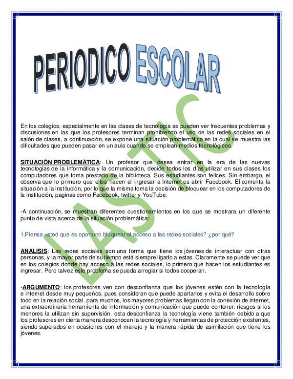 Periódico Escolar (2) No.1