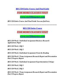 RES 320 MASTER Career Path Begins/res320master.com