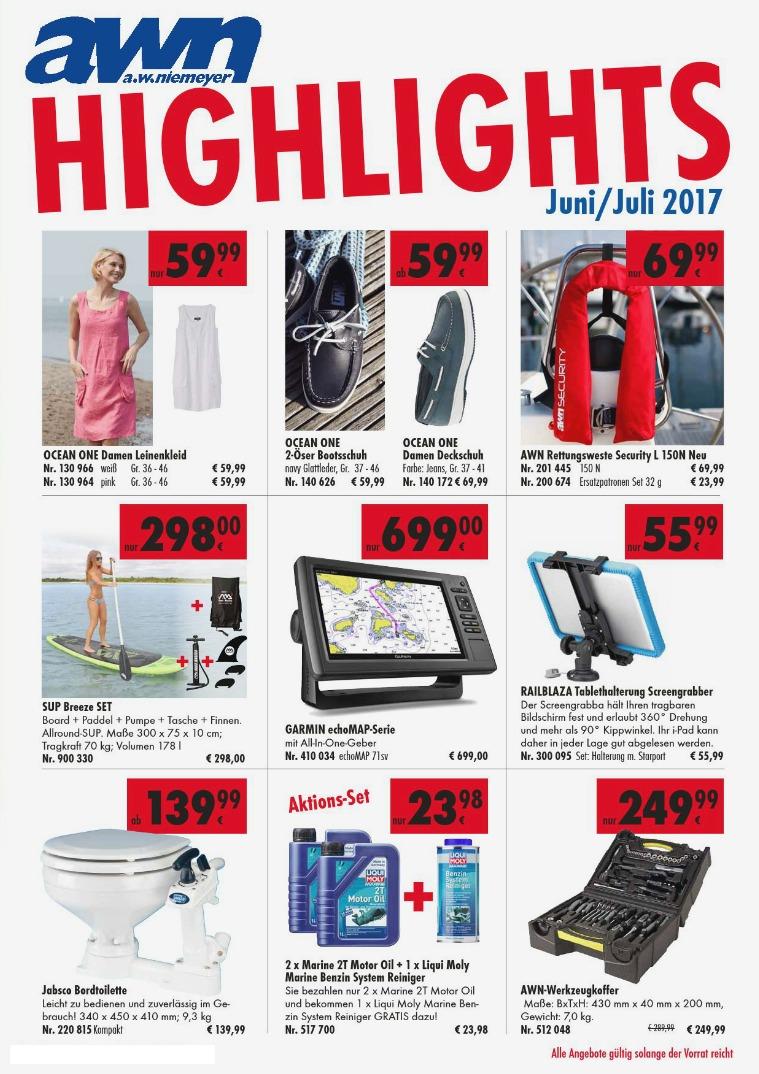 AWN Wassersport HIGHLIGHTS JUNI / JULI 2017 awn_Digi_Beilage06-17