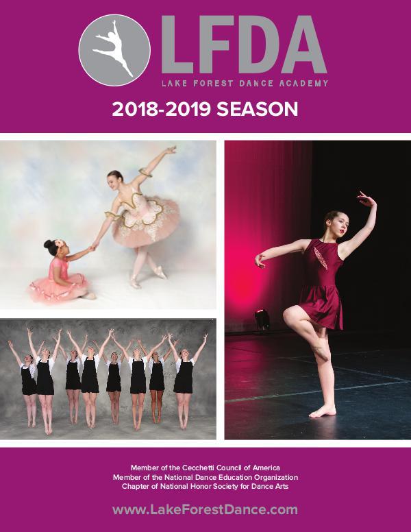 Lake Forest Dance Academy Brochure Dance Brochure 2018-2019