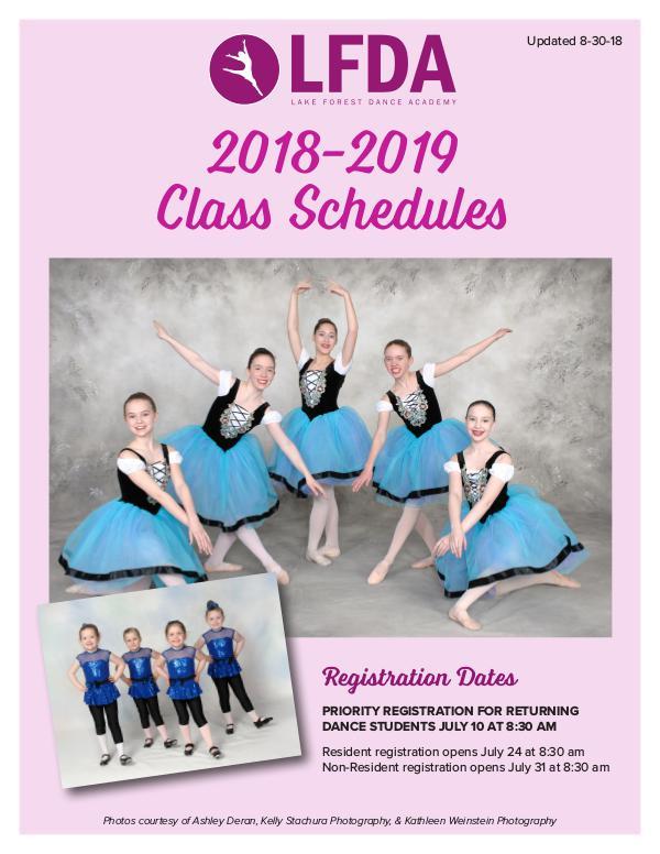 Lake Forest Dance Academy Brochure Class Schedules 2018-2019