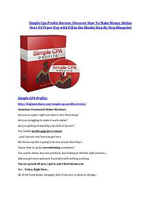 marketing Simple Cpa Profits review in detail and (FREE) $21400 bonus