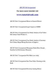AB 203 Course Great Wisdom / tutorialrank.com