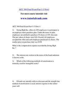 ACC 304 Course Great Wisdom / tutorialrank.com
