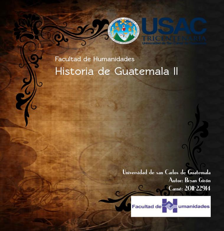 Historia de Guatemala II 1
