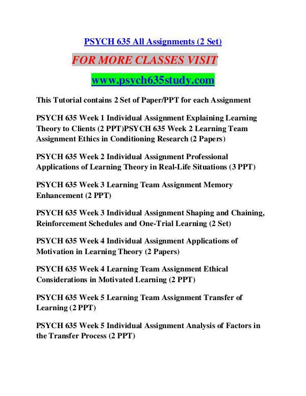 PSYCH 635 STUDY Career Path Begins/psych635study com PSYCH