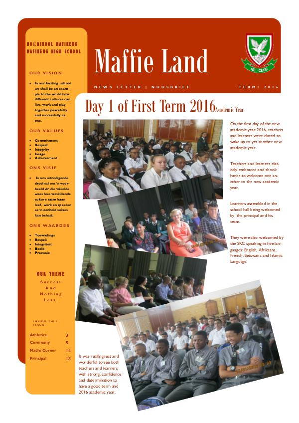 Newsletter MHS