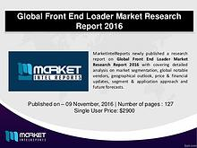 Global Front End Loader Industry Analysis – 2016-2021