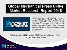 Comparative Mechanical Press Brake Market 2016