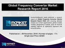 Global Frequency Converter Market: Trends and Opportunities 2016