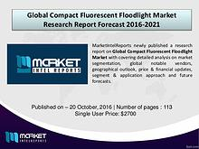 Comparative Global Compact Fluorescent Floodlight Market 2016-2021