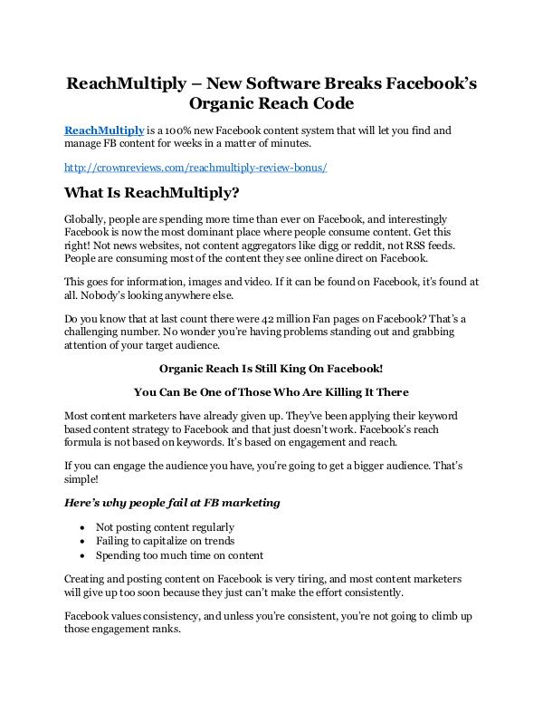 Marketing ReachMultiply review-$26,800 bonus & discount