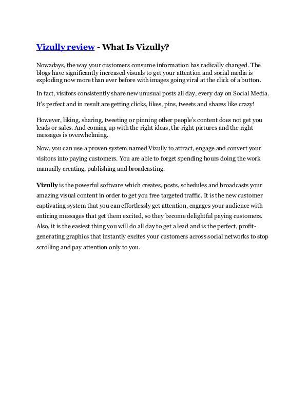 Vizully review and (MEGA) bonuses – Vizully