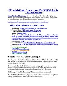 marketingVideo Ads Crash Course 3 review in particular - Video Ads Crash Course 3 bonus Video Ads Crash Course 3 TRUTH review and EXCLUSIVE $25000 BONUS