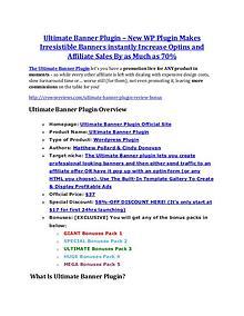 MarketingUltimate Banner Plugin review & huge +100 bonus items Ultimate Banner Plugin Review - (FREE) Bonus of Ultimate Banner Plugin