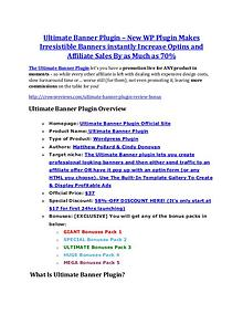 MarketingUltimate Banner Plugin review & huge +100 bonus items Ultimate Banner Plugin Review - (FREE) Bonus of Ultimate Banner Plugin