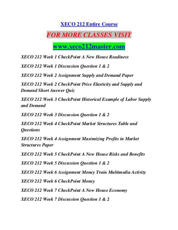XECO 212 MASTER Education  Terms/xeco212master.com XECO 212 MASTER Education  Terms/xeco212master.com