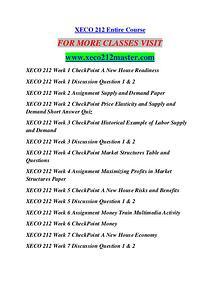 XECO 212 MASTER Education  Terms/xeco212master.com