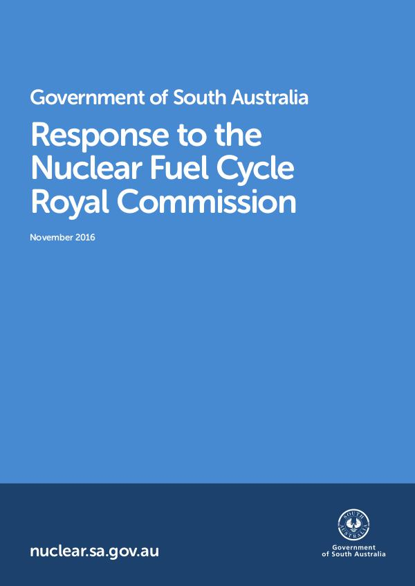 Government Response Nuclear Fuel Cycle Royal Commission