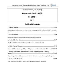 International Journal of Indonesian Studies
