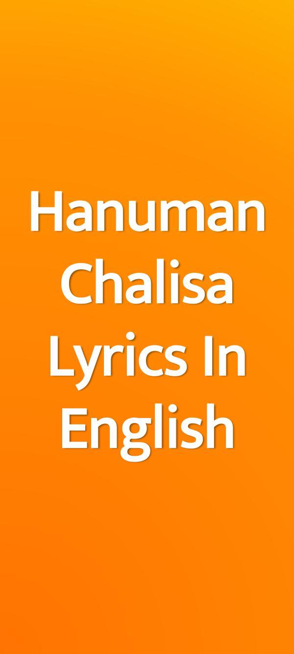 Hanuman Chalisa Engilsh Lyrics 1