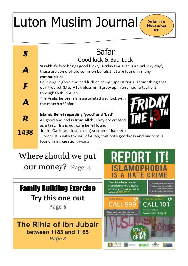 Luton Muslim Journal >> Safar 1438 / Nov 2016 1