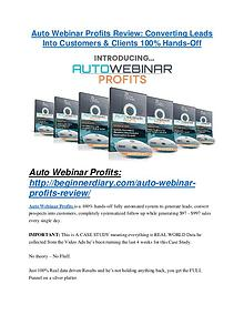 Auto Webinar Profits review demo and premium bonus Auto Webinar Profits review & Auto Webinar Profits (Free) $26,700 bonuses