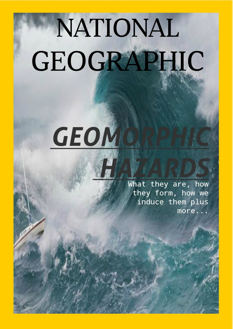 Geomorphic Hazards 1