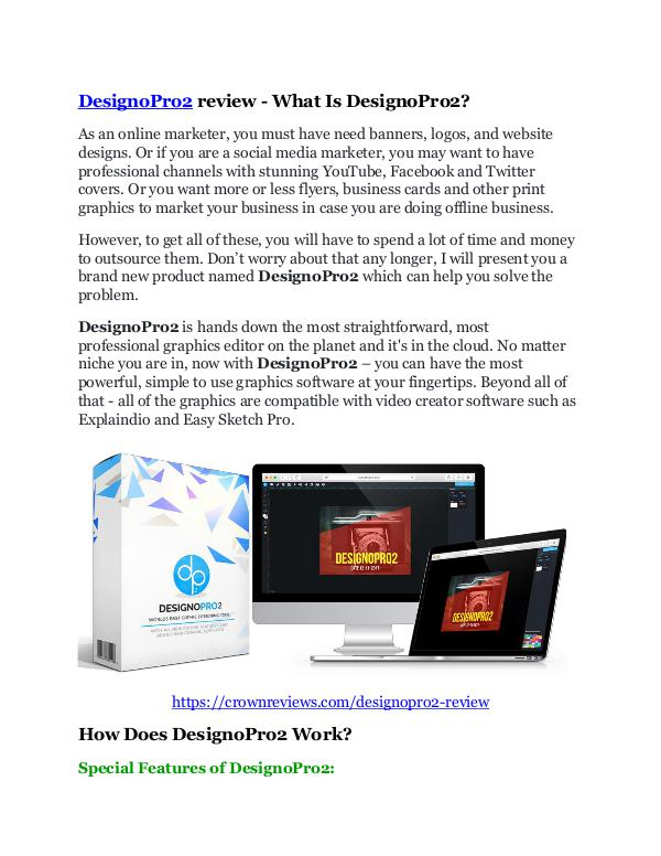 DesignoPro2 review - SECRETS of DesignoPro2 and $1