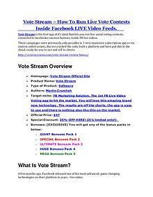 MarketingVote Stream Review - Vote Stream +100 bonus items Vote Stream review- Vote Stream (MEGA) $21,400 bonus