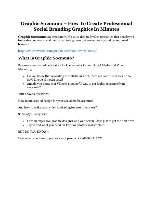 Graphic Socmuno review and (COOL) $32400 bonuses Graphic Socmuno Review & (Secret) $22,300 bonus