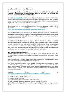 Curcumin Industry 2017 Market Size, Demand, Growth & Forecast 2022