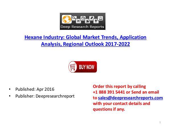 Global Hexane Industry 2017 Market Trends, Analysis,Growth &Forecast Hexane Industry