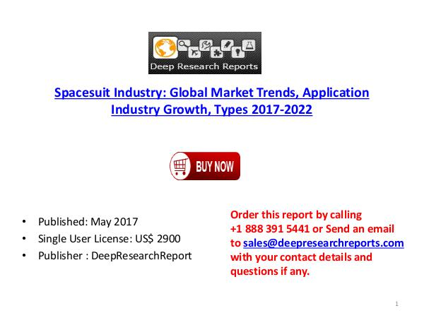Global Spacesuit Market 2017 Industry Trends, Size, Share, Growth Spacesuit Industry Market