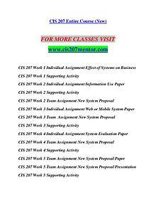 CIS 207 MENTOR Redefine the Possible/cis207mentor.com