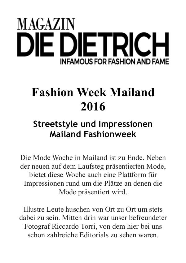 Magazin DieDietrich - infamous for fashion and fame 22.11.2016