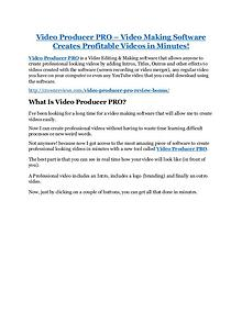Video Producer PRO review pro-$15900 bonuses (free)